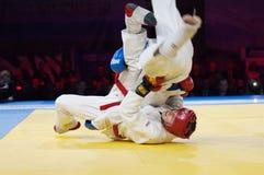 Makarov v (Красный цвет) против Mukashev u Стоковые Фото