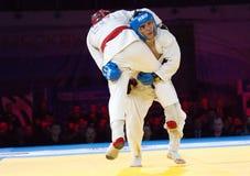 Makarov V (Rosso) contro Mukashev U Immagine Stock Libera da Diritti
