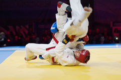Makarov V (Rouge) contre Mukashev U Photos stock