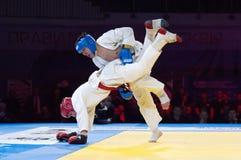 Makarov V (Rouge) contre Mukashev U Photo libre de droits