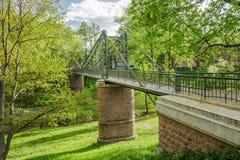 Makarovsky bridge in Kronstadt, Russia Stock Photos