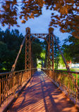 Makarovsky pedestrian bridge in Kronstadt Saint-petersburg Royalty Free Stock Photography
