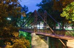 Makarovsky pedestrian bridge in Kronstadt Saint-petersburg Stock Images