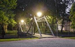 Makarovsky pedestrian bridge in Kronstadt Saint-petersburg Royalty Free Stock Images