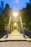 Makarovsky pedestrian bridge in Kronstadt Saint-petersburg Royalty Free Stock Image