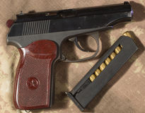 Makarow-Pistolenmunition Lizenzfreie Stockfotografie