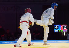 Makarow V (Rot) gegen Mukashev U Lizenzfreie Stockfotos