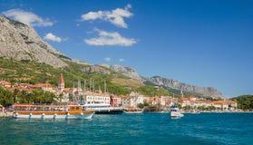 makarska,克罗地亚美丽如画的达尔马希亚风景  库存图片