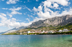 Makarska,克罗地亚 库存照片
