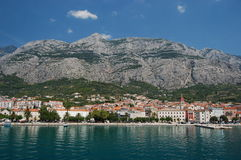 gorgeous scene of town makarska, croatia Stock Image