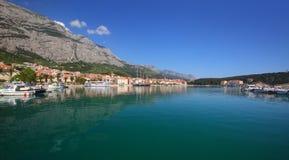 Makarska city Stock Photos