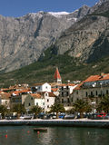 Makarska (Croatia). Part of Makarska landscape with mountain Biokovo - Croatia-Dalmatia. Vertical color photo Stock Image
