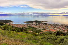 Makarska, Croatia, port and town Stock Photography