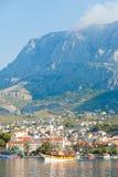Makarska, Dalmatien, Kroatien - das Leben ist beim Riviera von Makarska schön stockbild