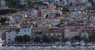 Makarska gammal stad Arkivfoto