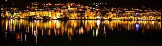 Makarska by night Royalty Free Stock Images