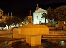 Makarska at night 1 Royalty Free Stock Photos