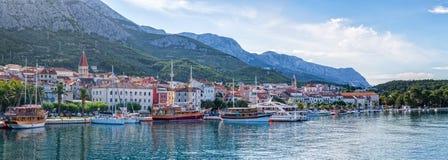Makarska panorama Zdjęcie Royalty Free