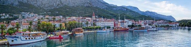 Makarska-Panorama Stockfoto