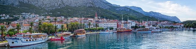 Makarska panorama Zdjęcie Stock