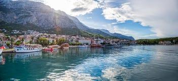 Makarska panorama Zdjęcia Royalty Free
