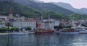 Makarska-Panorama Lizenzfreies Stockfoto