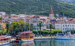 Makarska panorama Stock Photography