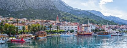 Makarska panorama Stock Photos