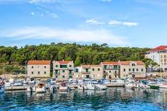 Makarska port Zdjęcia Royalty Free