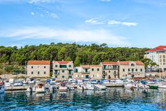 Makarska port Royalty Free Stock Photos