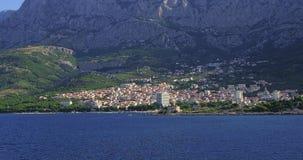 Makarska residental area stock video footage