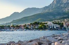 Makarska, Makarska riviera, Хорватия стоковое фото