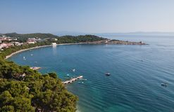makarska riviera Хорватии стоковая фотография rf
