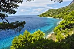 Makarska Riviera. Beautiful beach in Makarska Riviera in Dalmatia Stock Photo