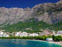 Makarska,Croatia. Makarska Riviera and Biokovo mountains,Dalmatia,Croatia Stock Photo