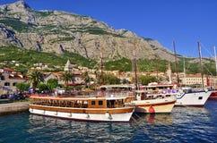 Makarska Riviera, Dalmatië, Kroatië stock afbeelding