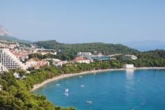 Makarska Riviera. Kroatien Stockbild