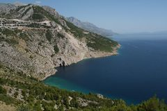 Makarska Riviera, Kroatien Stockbild