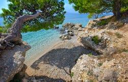 Makarska riviera, Kroatien Royaltyfria Bilder