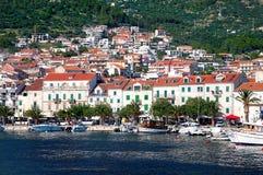 Makarska Riviera landskap Arkivfoton