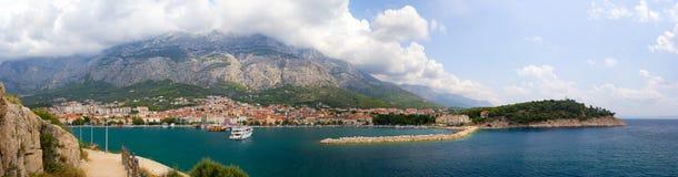 Makarska Riviera panorama Stock Photography