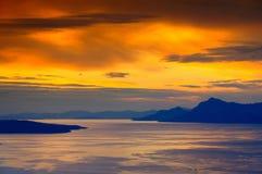 Makarska Riviera sunset Royalty Free Stock Photos