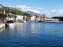 Makarska settlement of Croatia Stock Photos
