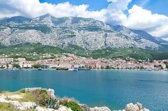 Makarska-Stadt, adriatisches Meer, Kroatien Lizenzfreie Stockfotografie