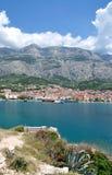 Makarska Stadt, Makarska Riviera, Dalmatien, Kroatien Lizenzfreie Stockbilder