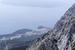 Makarska view from Biokovo Stock Photo