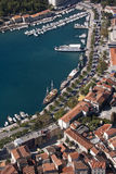 Makarska, vue aérienne Images libres de droits