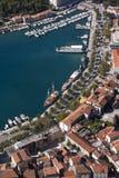 Makarska, widok z lotu ptaka Obrazy Royalty Free