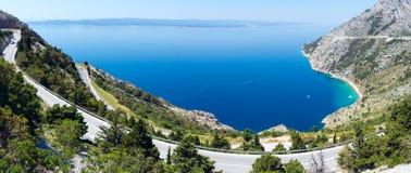 Makarska wybrzeże Riviera (Chorwacja) obraz stock
