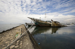 Makassar-Hafen Stockfotos